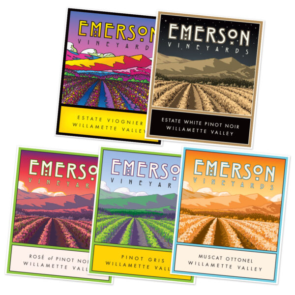 Emerson Wine Label Posters