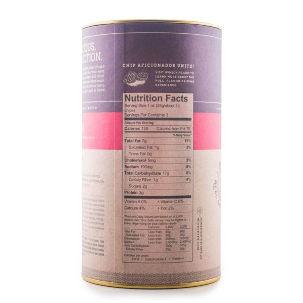 Manchego Wine Chips Nutrition Information